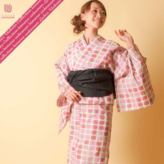 [possible same day shipment] lady's yukata _ additional optional possible _ brand yukata _ one piece of article _Ummm. North European modern _ newly made yukata -unk80104 [red system] which is worn immediately [100% of cotton]