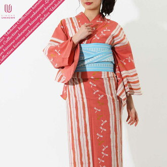 [possible same day shipment] lady's yukata _ additional optional possible _ brand yukata _ one piece of article _ [elegant 1926 of the wind] _ newly made yukata -unk80116 [red system] which is worn immediately [100% of cotton]