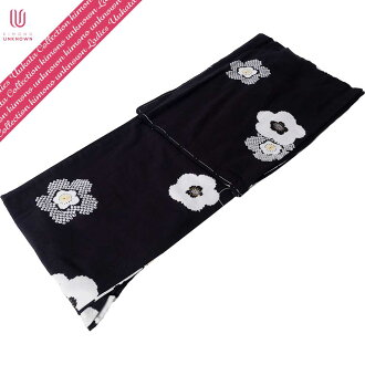 [possible same day shipment] lady's yukata _ additional optional possible _ brand yukata _ one piece of article _ [elegant 1926 of the wind] _ newly made yukata -unk80120 [black system] which is worn immediately [100% of cotton]