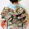 """Coming and going"" rental long-sleeved kimono full set -673"
