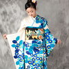 """""""Coming and going"""" rental long-sleeved kimono full set -877