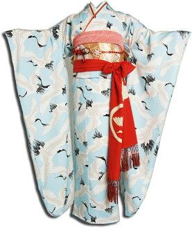 """Coming and going"" rental long-sleeved kimono full set -380  Rental kimono costumes for rent full rental long-sleeved kimono set kimono set wedding ceremony gorgeous kimono long-sleeved kimono rental long-sleeved kimono rental dressing accessory set doub"