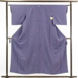 It is 28cm in width length of a kimono sleeve 46cm after recycling kimono dyed cloth without a pattern / pure silk fabrics purple ground four 目菱紋入袷色無地未使用品 / Lady's dress length 154cm 裄 63cm width of body section front 22.5cm