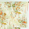 It is 29cm in width length of a kimono sleeve 56cm after silk 100% yellow 裄 medium size dress length 162cm 裄 66cm width of body section front 24cm for recycling kimono fine pattern / pure silk fabrics thin yellow ground floral design lined kimono fine pa