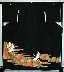 【貸衣裳】rt205:金彩夫婦鶴と松レンタル留袖【貸衣装】