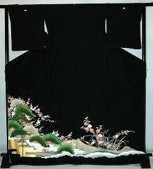 【貸衣裳】rt206:松に菊レンタル留袖【貸衣装】