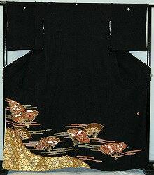 【貸衣裳】rt210:雲取に扇子レンタル留袖【貸衣装】