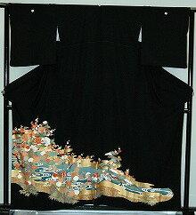 【貸衣裳】rt211:流水にオシドリレンタル留袖【貸衣装】