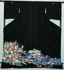 【貸衣裳】rt227:加賀調花柄レンタル留袖【貸衣装】