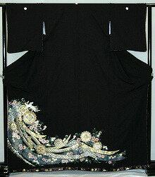 【貸衣裳】rt149:華紋のしめ鳳凰レンタル留袖【貸衣装】