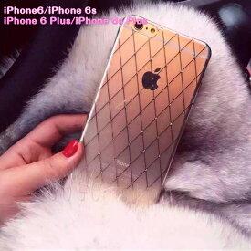 iPhone6s iPhone6sPlus Plus 背面ケース 背面カバー レザー調 ダイアモンド きらきら かわいい シンプル スマホケース 軽量 薄型 おしゃれ 上品 クリアケース スマホカバー ギフト プレゼント 送料無料