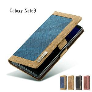 Galaxy Note9 専用 SC-01L SCV40 ギャラクシー 手帳型 ケース サイドマグネット仕様 スタンド機能 横開き ポケット付き お札入れ キャンバス地ギフト プレゼント あす楽対応 送料無料