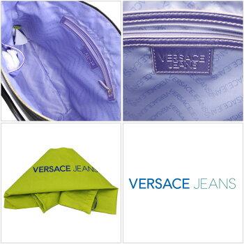 【新品】【VERSACEJEANS】ヴェルサーチジーンズハンドバッグショルダーストラップ付きブラックレザーE1VLBB22-6899