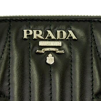 【新品】【PRADA】プラダラウンドファスナー長財布キルティングレザーブラック1ML506SOFTCALFIMPUNNERO