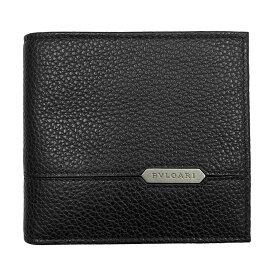 ブルガリ 財布 メンズ 284700 BVLGARI 二つ折り財布 ブラック グレインレザー オクト