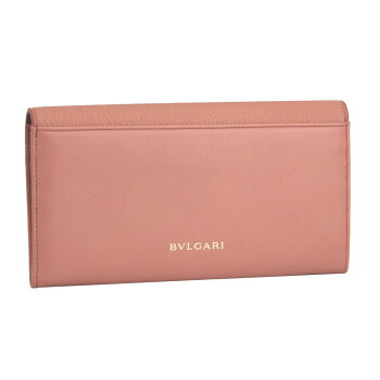 【新品】【BVLGARI】ブルガリフラップ長財布ディーヴァドリームピンク系レザー285501
