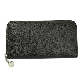 ブルガリ 財布 メンズ 20886 BVLGARI ラウンドファスナー長財布 ブラック 型押しレザー クラシコ