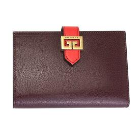 ジバンシー 財布 レディース GIVENCHY 二つ折り財布 GV3 レザー ボルドー×レッド BB601GB056 613