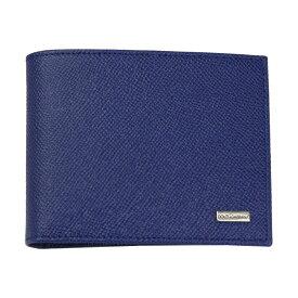 ドルチェ&ガッバーナ 財布 BP0457 DOLCE&GABBANA 二つ折り財布 メンズ レザー ブルー系 内側スカル柄 BP0457 B1001 80525