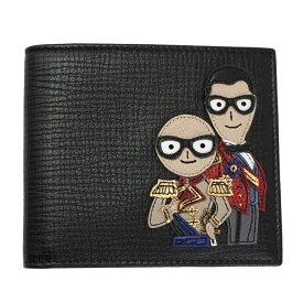 ドルチェ&ガッバーナ 財布 メンズ DOLCE&GABBANA 二つ折り札入れ #DGFamily デザイナーズパッチ レザー ブラック BP1321 AI477 80999