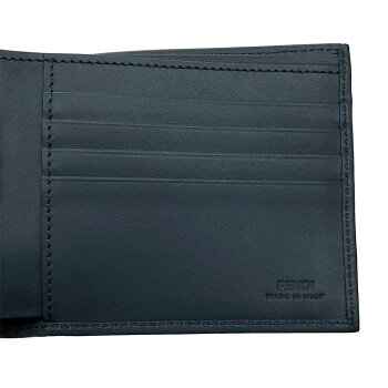 フェンディ財布7M0169FENDI二つ折り札入れメンズフェンディスタンプアップリケPVC×レザー7M0169A5K4F16572019春夏新作日本未入荷