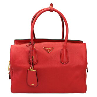 Prada 2WAY Tote / shoulder bag-red leather BN2767