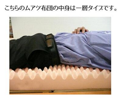 [ムアツスーパーハードはコチラ]【送料無料/あす楽対応/着後レビューでシーツプレゼント】西川ムアツ布団【厚さ90mm】[スーパーハード]シングル三つ折りP27Mar15