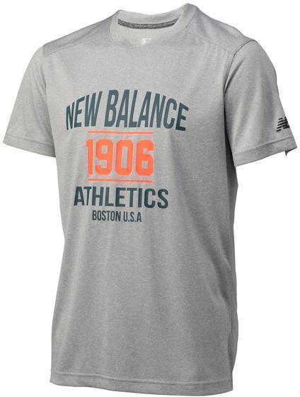 ニューバランス ショートスリーブヘザーテックグラフィックTシャツ AG:AG