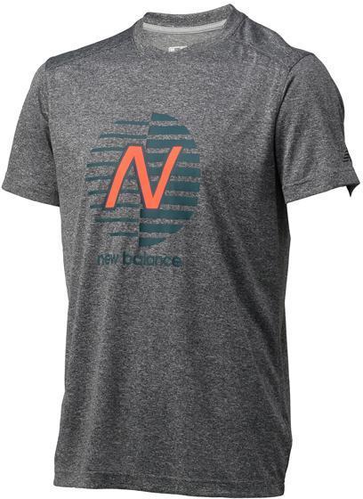 ニューバランス ショートスリーブヘザーテックグラフィックTシャツ BHB:BHB