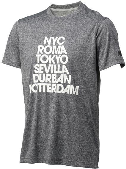 ニューバランス ショートスリーブヘザーテックグラフィックTシャツ BKH:BKH