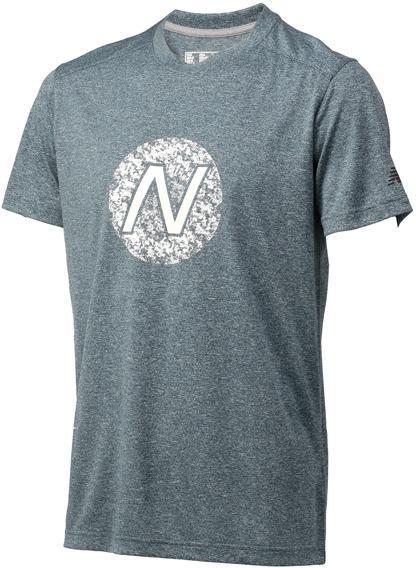 ニューバランス ショートスリーブヘザーテックグラフィックTシャツ SCR:SCR