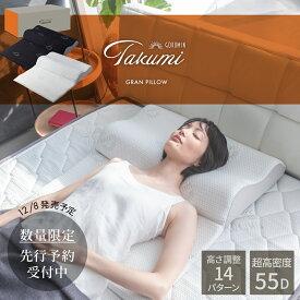 【14段階高さ調整】低反発枕 枕を超えた枕 グランピロー 枕 GOKUMIN 20通りの使い方 9か所サポート いびき防止 ストレートネック 肩こり 快眠 誕生 ボディピロー (ホワイト/ブラック)