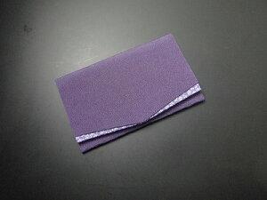 ふくさ・金封いれ/ちりめん 桜小紋 金封ふくさ 紫