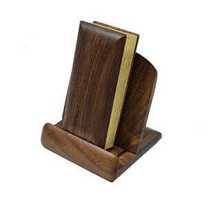 【過去帳 過去帳台セット】ウォールナット過去帳(3寸5分) ウォールナット過去帳台(3寸)セット※ミニ仏壇に合う過去帳セットです。※過去帳は木製仕様現代仏具 過去帳 木製過去帳 木の過去