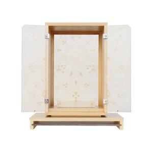 【厨子】燦 ナチュラル高さ36センチ蒔絵仕様日本製お厨子 厨子 小さい厨子 綺麗な厨子 寺用厨子 きれいな厨子 現代風 コンパクトサイズ厨子