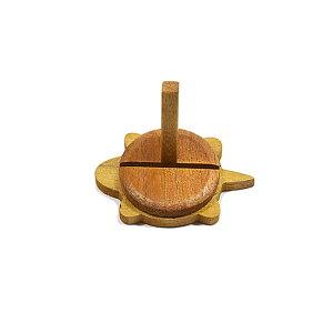 【カード立て】亀型「HONU(ホヌ)」(ライト色)中サイズ★木製手作り品★当店オリジナル品カード立て 写真立て 写真 フォトフレーム プライスカード 亀 かめ カメ