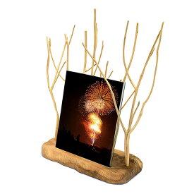 【フォトフレーム】木の枝フォトフレーム写真立て フォトフレーム 木製写真立て 木製フォトフレーム お仏具 現代仏具 手元供養品 母の日プレゼント