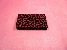 【名刺入れ/カード入れ】印伝柄カード入れ(桜柄)◆赤色◆※ブレスレット入れにも最適です。日本製品縁起物 名刺入れ カード入れ印伝 印伝調 印伝柄