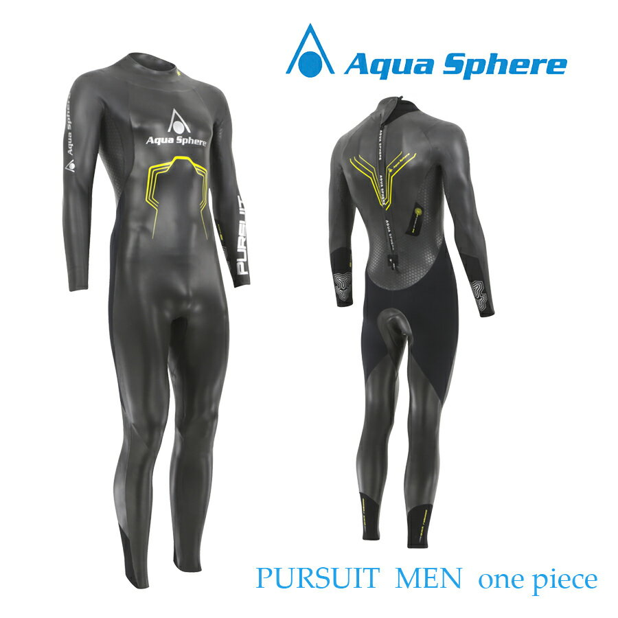 【メーカー在庫商品】Aqua Sphere(アクアスフィア) PURSUIT MEN ONE-PIECE パースーツ ワンピース トライアスロン用ウエットスーツ【返品交換不可】