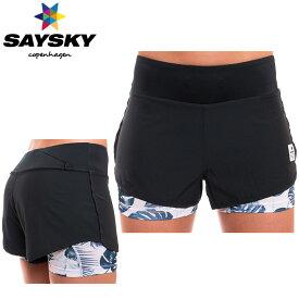SAYSKY(セイスカイ) レディース 2in1ショーツ(インナー付きランニングパンツ)