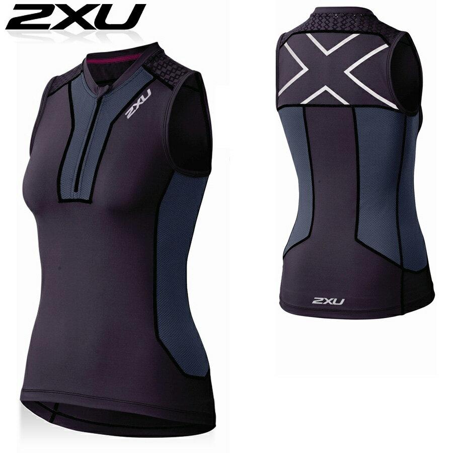 【メーカー在庫商品】2XU レディース XTRM コンプレッション タンクトップ(ノースリーブシャツ)【返品交換不可】