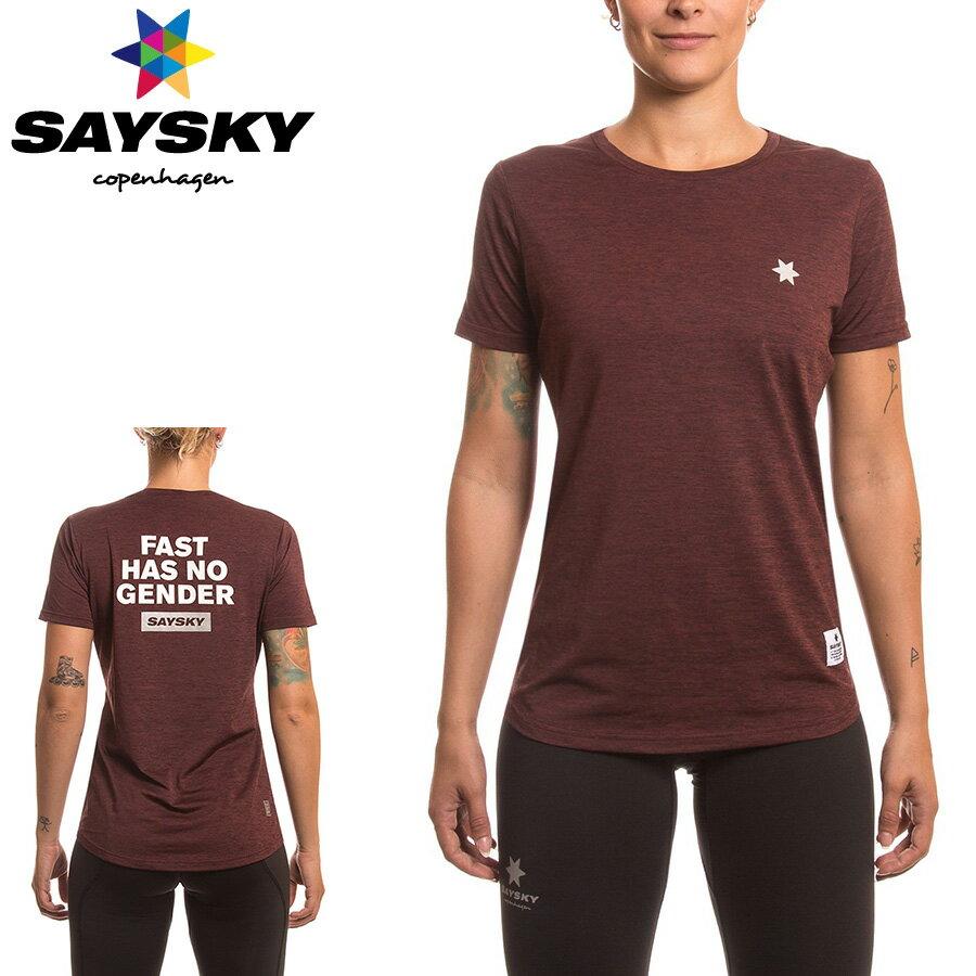 SAYSKY(セイスカイ) レディース ファスト Tシャツ(ランニング半袖シャツ)