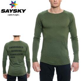 SAYSKY(セイスカイ) WOLFPACK ウルフパック クリーン 長袖Tシャツ(ロングスリーブシャツ)