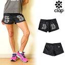 CLAP(クラップ) ショーツ B-CAMO(BLACK CAMO)|ロゴ×ダークなカモフラ柄が印象的なフィットネスやダンスにおすすめのショートパンツ
