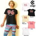 CLAP(クラップ) ドルマン Tシャツ 96 HEART よく見ると可愛いハートがぎっしりのドルマンティーシャツ
