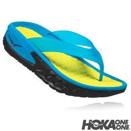 HOKA ONE ONE(hokaoneone)ORA RECOVERY FLIP(我恢復提板)BLACK/PROCESS BLUE涼鞋