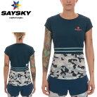 SAYSKY(セイスカイ)レディースCAMOSSTEETシャツカモフラ柄(ランニング半袖シャツ)