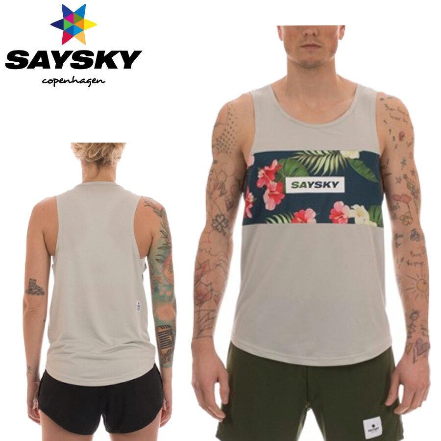 SAYSKY(セイスカイ) ユニセックス TROPIC RACE SINGLET トロピカルシングレット(ランニングタンクトップシャツ)
