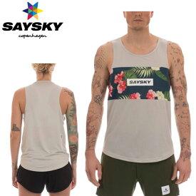 【在庫処分特価】SAYSKY(セイスカイ) ユニセックス メンズ レディース TROPIC RACE SINGLET トロピカルシングレット(ランニングタンクトップシャツ)【返品交換不可】