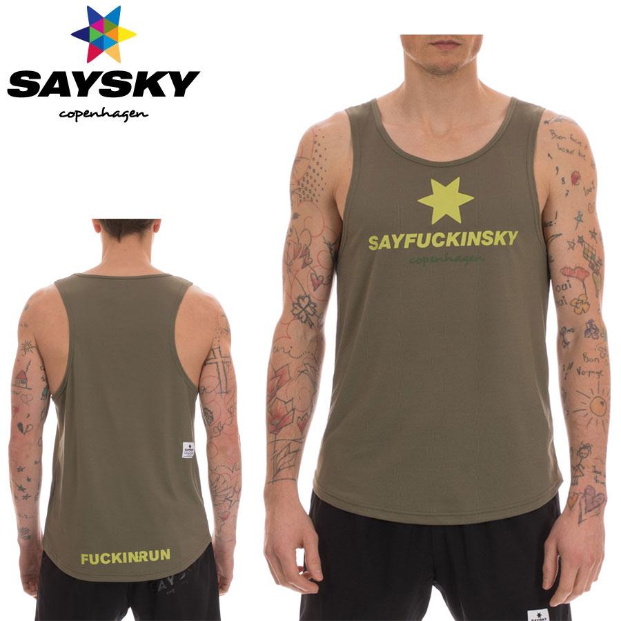 SAYSKY(セイスカイ) ユニセックス F*CKING SINGLET シングレット(ランニングタンクトップシャツ)【返品交換不可】